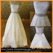 Длинный поезд-line свадебное платье милая свадебное платье бисером платье кружева БЫБ-14614