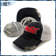 mesh bottle opener baseball cap with your own logo for wholesale manufacturei