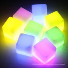 cube de glace carré brillant