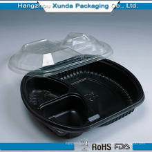 Microwavable Plastic Children Food Tray with Lid