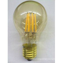 5.5W A60 Gold Cover E26 Golden Base 120V Dim LED Filament Lamp