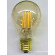 5,5 Вт А60 золото Крышка Сид e26 Золотой базы 120В Дим светодиодные лампы накаливания