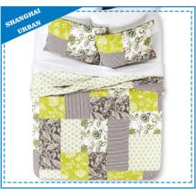 Ensemble de courtepointe en polyester imprimé à motif patchwork floral