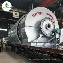 HUAYIN-Abfall-Reifen, der zu Öl, Reifen-Pyrolyse-Anlage mit der Wiederverwertung des Wasser-Kühlsystems wiederverwertet