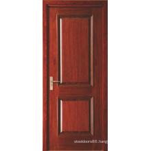 Two Panel Red Painted Veneered Swing Interior MDF Doors for Hotel