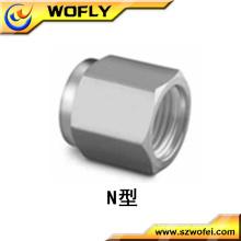 Porca de bucha do acoplamento do tubo hexagonal SS316L