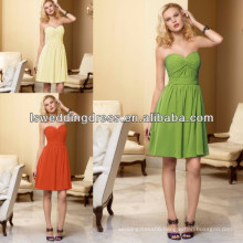 HB2002 Hot sale top quality factory price OEM accepted Elegant apple green chiffon bridesmaid dress patterns
