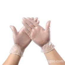 Неопудренные одноразовые ПВХ виниловые перчатки