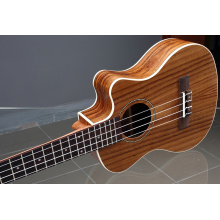 Grão tigre acácia ukulele personalizado