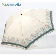 36pcs Full fibra de carbono formosa imprimir pliegue paraguas
