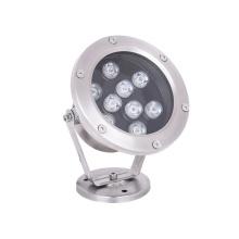 9W wasserdichte LED Unterwasserscheinwerfer aus Edelstahl