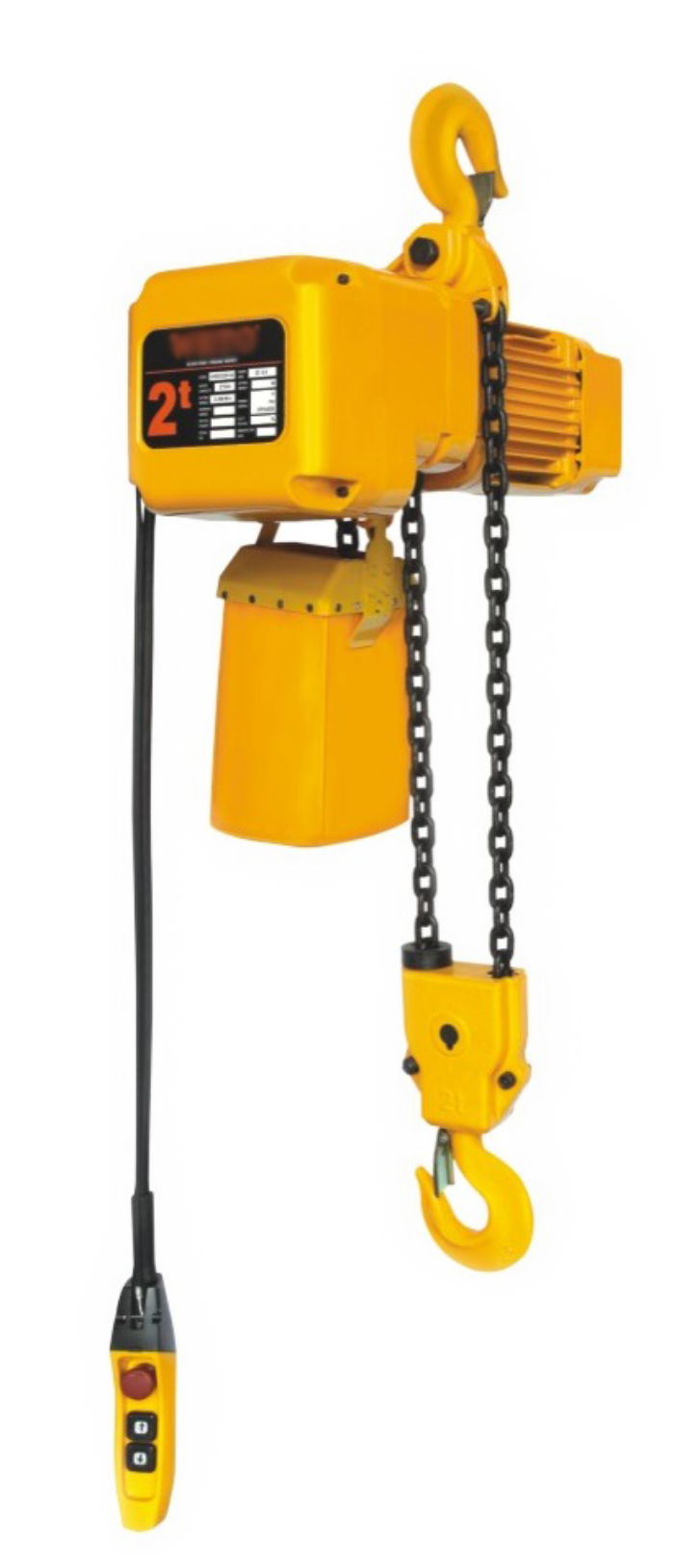 electric chain hoist with hook