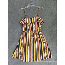 Ropa de moda para mujer Vestido de viscosa estampado