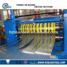 Machine à découper en bobines en acier en aluminium, métal en acier, feuille de toit, ligne de coupe et machine de rembobinage