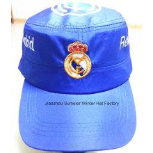 Дешевые высококачественные плоские вершины вышитые спортивные поощрительные шапки