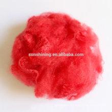 7D / 64 recouvert psf fibre discontinue creuse en polyester poli pour le remplissage et le rembourrage