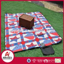Новый дизайн модный флис водонепроницаемый открытый одеяло для пикника