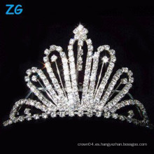 Elegantes peines franceses de cristal, peines nupciales de cristal, peines de lujo del pelo de la boda