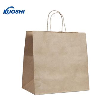 Eco brown kraft paper bag with Logo
