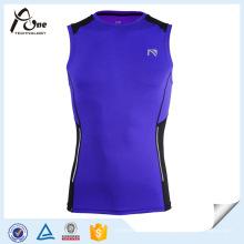 Großhandelskundenspezifisches Design-Athleten-Kompressions-laufendes Unterhemd