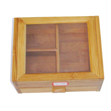 Bamboo tea gift box with acrylic lid