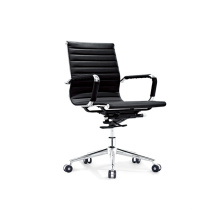 Special Middle Back Leather Manager Chair with Metal Frame