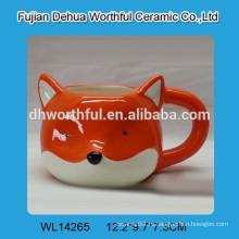 Популярная керамическая кружка с формой лисы