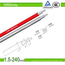 TUV Approval PV Grade 4.0mm2 and 6.0mm2 Solar Cable