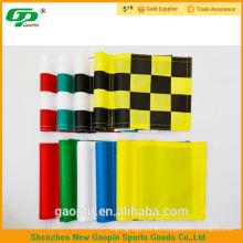 Barato golf personalizado poniendo banderas verdes / bandera de agujero de golf / mini banderas de palo