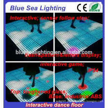 Disco sensível dmx exterior removível fazer pista de dança iluminada