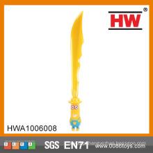 Engraçado 61CM brinquedo espada plástico com espada música espada samurai plástico