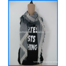 Checked popular polyester square scarf