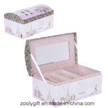 Printing Paper Cosmetic Box / Jewellry with Mirror and Lock