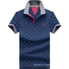 2017 Hommes Imprimé Polos Mode Oxford Coton Polo Shirt