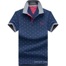 2017 Men Printed Polo Shirts Fashion Oxford Cotton Polo Shirt