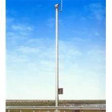 Galvanized Microwavetelecommunication Tower Steel Pole