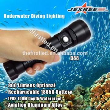Impermeable 800lm 18650 pilas recargables LED de aluminio linternas