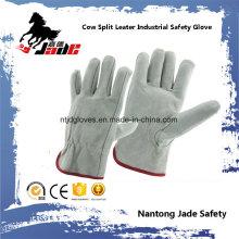 Gant de travail pour conducteur de sécurité industrielle en cuir garni gris