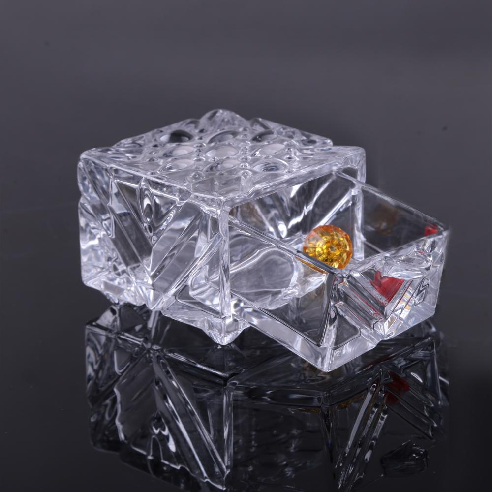 Glass Clear Jewelry Gift Drawer Box Wholesale