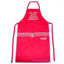 tablier de cuisine réglable rouge