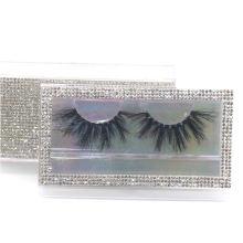 SL015F Hitomi Luxury Styles private label eyelashes box mink eyelash wholesale price Fluffy real 25mm mink eyelashes