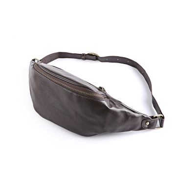 Sport läder midja Fanny Pack Cross Body Shoulder Bag