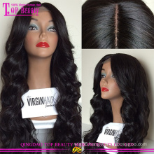New design popular wet and wavy silk top wig cheap silk top lace front wig