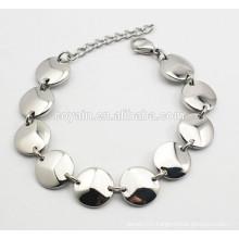 Bulk wholesale 316L stainless steel Chain link connected bracelet for women