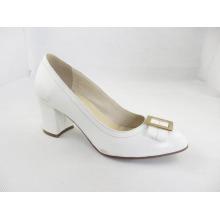 2016 Fashion High Heel Chunky Ladies Dress Shoes (HCY03-169)