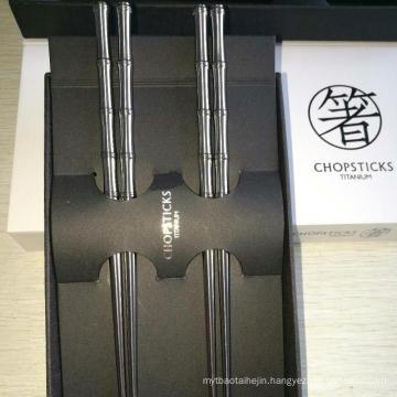 2018 hot wholesale china washable chopstick titanium alloy chopsticks