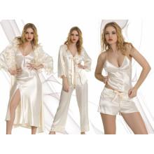 Sexy Bridal Satin Nightdress Set