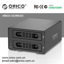 ORICO 3529RUS3 hard disk enclosure case 2 bay HDD RAID ENCLOSURE CASE ,RAID USB 3.0
