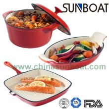 Carbon Steel Enamel Stock Pot+ Roaster+Frying Pan/Cookware Set