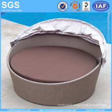 Rattan Furniture Folded Waterproof Canopy Round Sofa Daybed